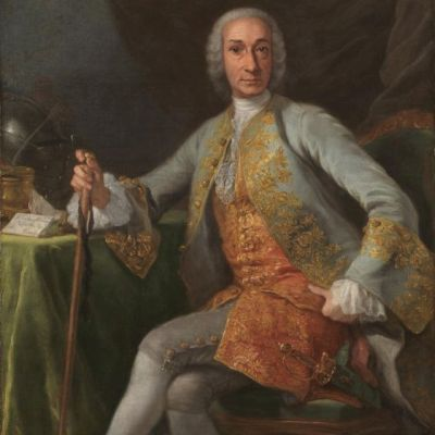 """Retrato de Leopoldo de Gregorio, marqués de Esquilache"" de Giuseppe Bonito. (1759)"