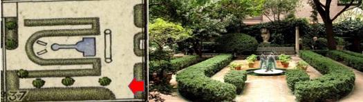 Plano 4. Segundo jardín. Plano catasral 1940. Instituto Geografico Nacional. Imagen  segundo  jardín.