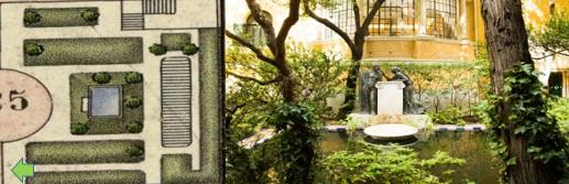 Plano 5. Tercer jardin.  Plano catasral 1940. Instituto Geografico Nacional / Imagen tercer  jardin.