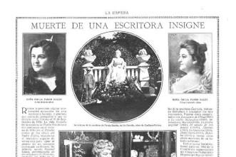 Muerte de Pardo Bazán en la revista Esfera
