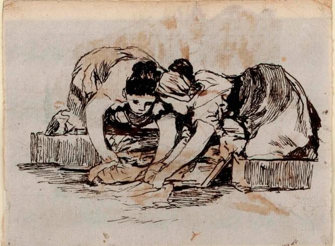 Lavanderas. Goya y Rosario Weiss.