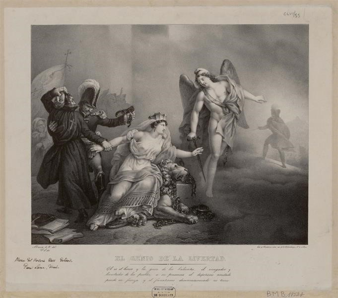 El Genio de la Libertad. Rosario Weiss. Litografía 1831