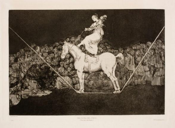 Francisco de Goya, Una reina del circo, 1816-1819. Aguafuerte, aguatinta y punta seca.