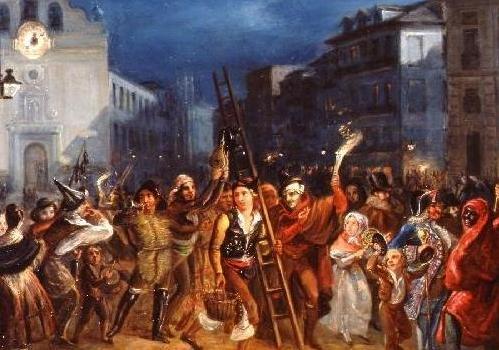 """""""Noche de Reyes en la Puerta del Sol"""", de José Castelaro y Perea"""